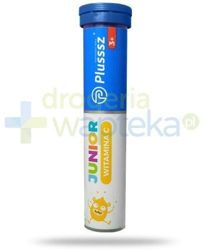 Plusssz Junior witamina C o smaku pomarańczowo cytrynowym dla dzieci 3+ 20 tabletek