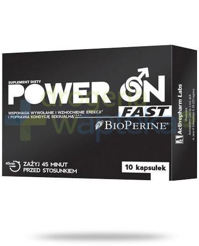 Power On Fast na poprawę możliwości seksualnych 10 kapsułek   whited-out
