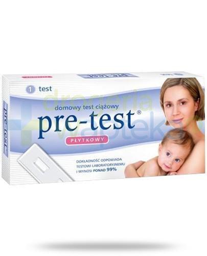 Pre-Test test ciążowy płytkowy 1 sztuka