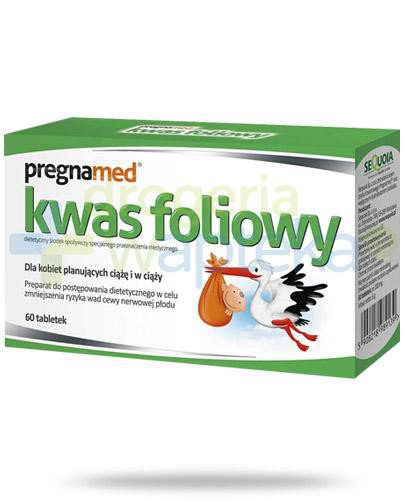 Pregnamed Kwas foliowy 60 tabletek  whited-out