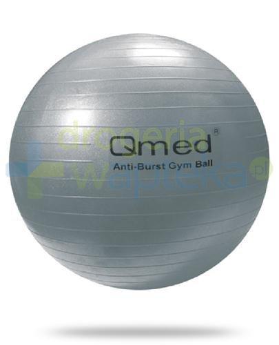 Qmed Gym Ball piłka rehabilitacyjna z systemem ABS kolor srebrny z pompką 1 sztuka