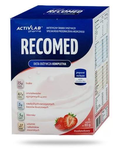 RecoMed smak truskawkowy proszek 6 sztuk [Data ważności 20-05-2020]