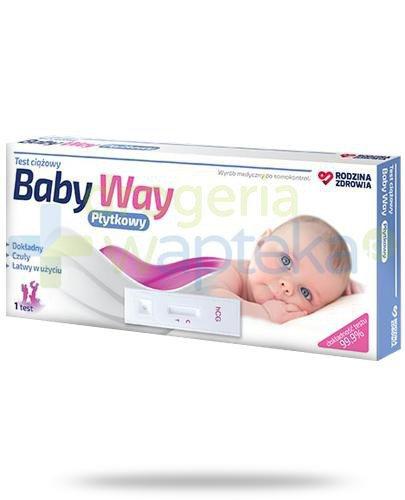 Rodzina Zdrowia Baby Way test ciążowy płytkowy 1 sztuka