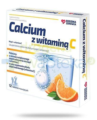 Rodzina Zdrowia Calcium z witaminą C 12 tabletek musujących