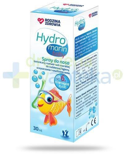 Rodzina Zdrowia Hydromarin Baby izotoniczny roztwór wody morskiej do nosa w sprayu 30 ml
