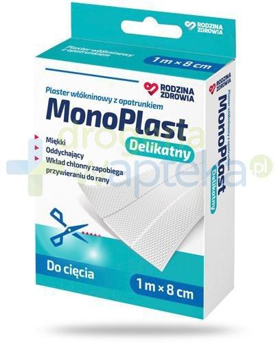 Rodzina Zdrowia MonoPlast delikatny plaster z opatrunkiem włókninowy do cięcia 1m x 8cm