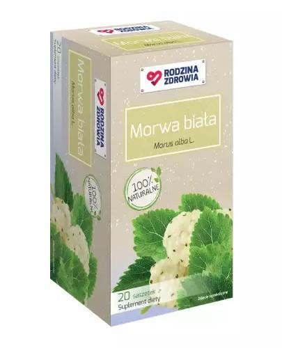 Rodzina Zdrowia Morwa biała 2000mg zioła do zaparzania 20 saszetek