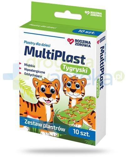 Rodzina Zdrowia MultiPlast Tygryski plastry dla dzieci 72x 25mm 10 sztuk