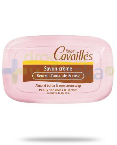 Roge Cavailles kremowe mydło masło migdałowe i róża 115 g