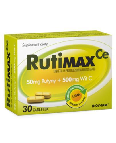 RutiMax Ce 500mg Rutyny + 500mg witaminy C 30 tabletek