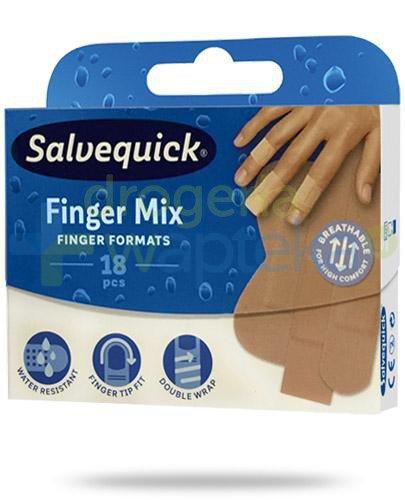 Salvequick Finger Mix plastry 18 sztuk