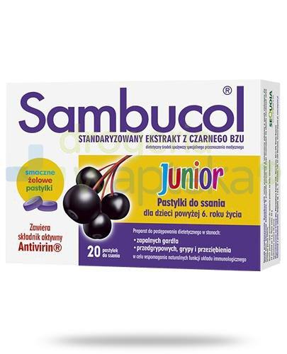Sambucol Junior pastylki do ssania 20 sztuk