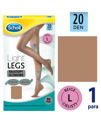 Scholl Light Legs 20 DEN rajstopy uciskowe rozmiar L cienkie kolor cielisty 1 sztuka