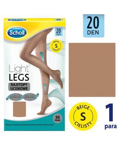 Scholl Light Legs 20 DEN rajstopy uciskowe rozmiar S cienkie kolor cielisty 1 sztuka