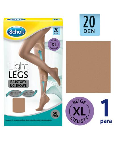 Scholl Light Legs 20 DEN rajstopy uciskowe rozmiar XL cienkie kolor cielisty 1 sztuka