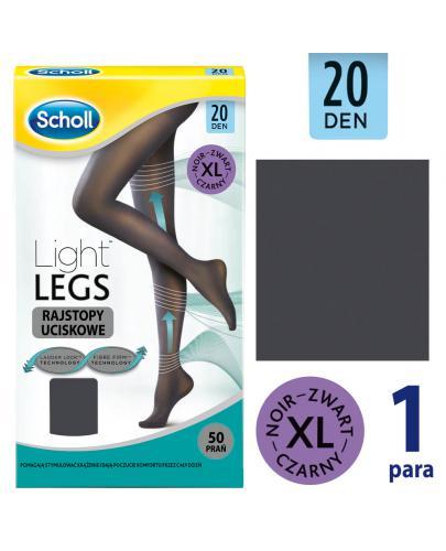 Scholl Light Legs 20 DEN rajstopy uciskowe rozmiar XL cienkie kolor czarny 1 sztuka