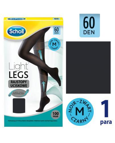 Scholl Light Legs 60 DEN rajstopy uciskowe rozmiar M kolor czarny 1 sztuka