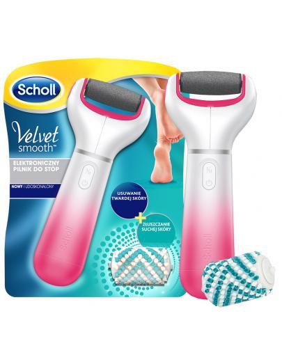 Scholl Velvet Smooth elektroniczny pilnik do stóp z głowicą gruboziarnistą i szczotecz...
