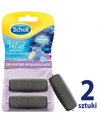 Scholl Velvet Smooth Wet&Dry wymienne głowice obrotowe delikatnie wygładzające z minera...  whited-out