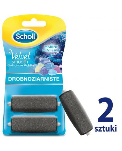 Scholl Velvet Smooth Wet&Dry wymienne głowice obrotowe drobnoziarniste z minerałami 2 sz...  whited-out