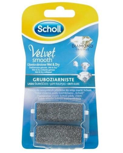 Scholl Velvet Smooth Wet&Dry wymienne głowice obrotowe gruboziarniste 2 sztuki