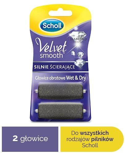 Scholl Velvet Smooth Wet&Dry wymienne głowice obrotowe silnie ścierające z diamentami 2 sztuki