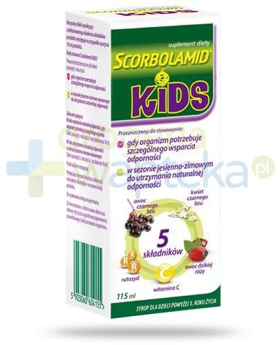Scorbolamid Kids+ syrop dla dzieci 3+ 115 ml