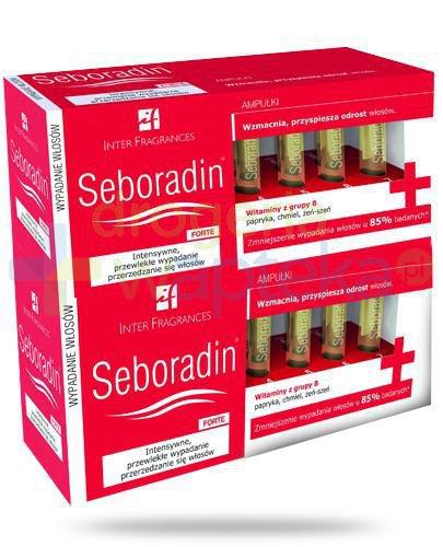 Seboradin Forte kuracja przeciw wypadaniu włosów 2x 14 ampułek [DWUPAK]