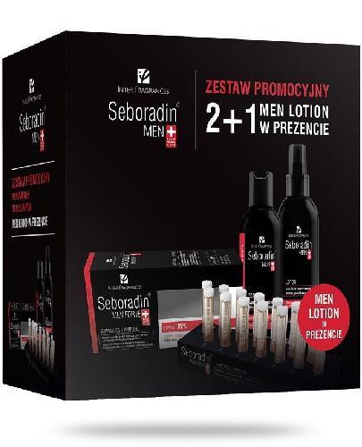 Seboradin Men Przeciw wypadaniu włosów szampon 200 ml + ampułki 14x 5,5 ml + lotion 200 ml [ZESTAW]
