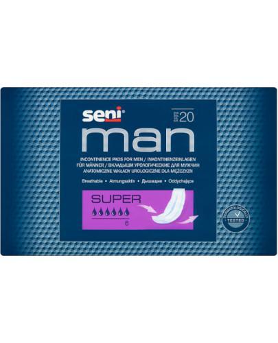 Seni Man Super wkładki urologiczne 20 sztuk
