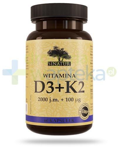 Sinatur witamina D3 2000jm + K2 100mcg 60 kapsułek