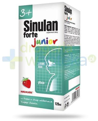 Sinulan Forte Junior syrop o smaku truskawkowym 120 ml