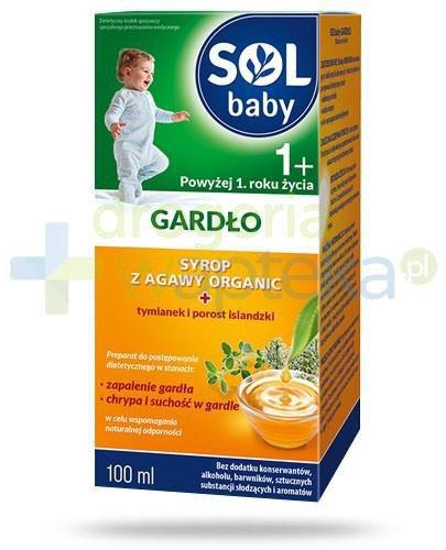 SOLbaby Gardło syrop z agawy organic dla dzieci 1+ 100 ml