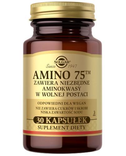 SOLGAR Amino 75 kompletny zestaw aminokwasów egzogennych 30 kapsułek