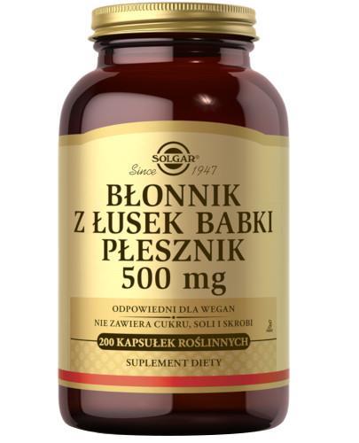SOLGAR Błonnik z łusek Babki Płesznik 500 mg 200 kapsułek