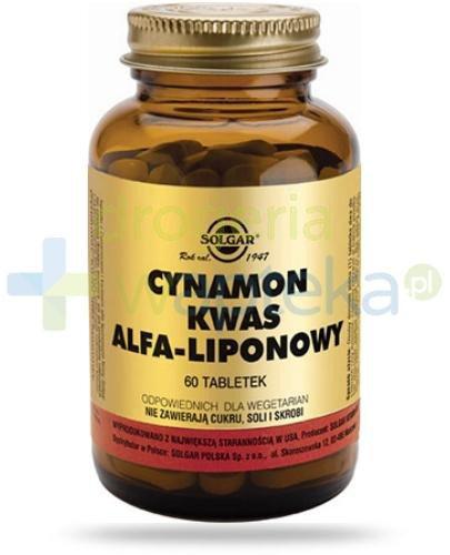 SOLGAR Cynamon i kwas alfa-liponowy 60 tabletek