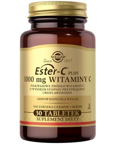 SOLGAR Ester-C Plus 1000 mg witaminy C 30 tabletek