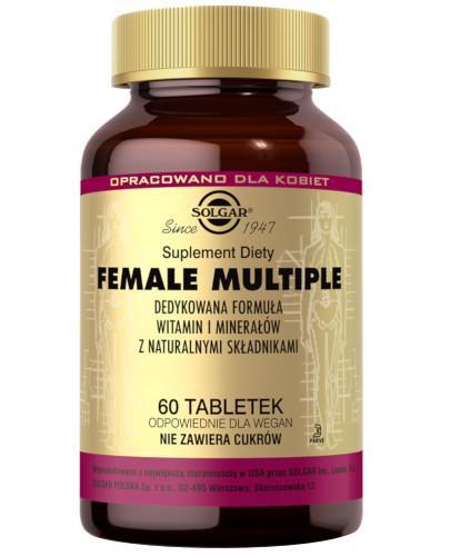SOLGAR Female Multiple witaminy i minerały dla kobiet 60 tabletek