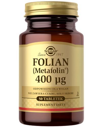 SOLGAR Folian (Metafolin) 400µg 50 tabletek