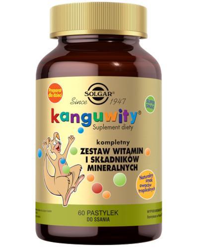 SOLGAR Kanguwity witaminy i minerały smak owoców tropikalnych 60 tabletek