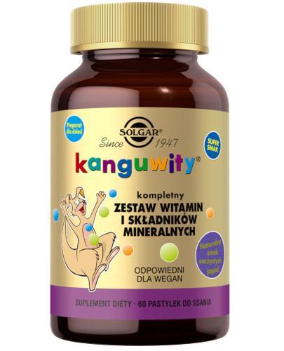 SOLGAR Kanguwity witaminy i minerały smak soczyste jagody 60 pastylek