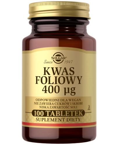SOLGAR Kwas foliowy 100 tabletek