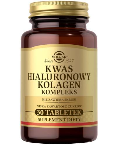 Solgar Kwas Hialuronowy Kolagen Kompleks 30 tabletek