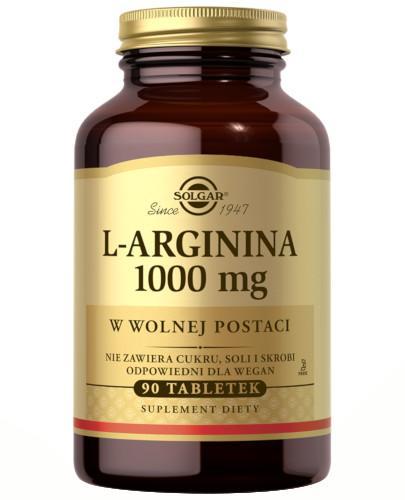 SOLGAR L-arginina 1000 mg w postaci wolnej 90 tabletki
