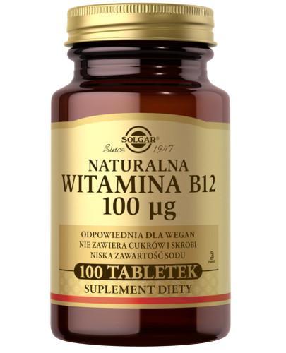 SOLGAR Naturalna witamina B12 100 µg 100 tabletek