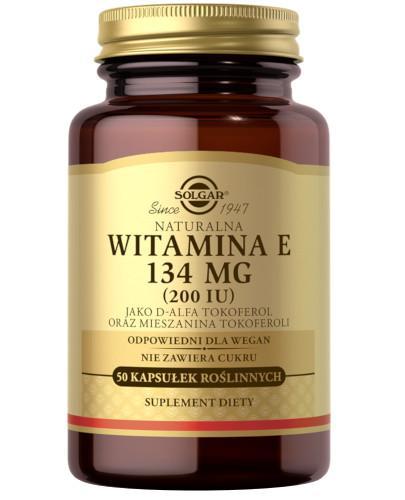 SOLGAR Naturalna Witamina E 134 mg 50 kapsułek
