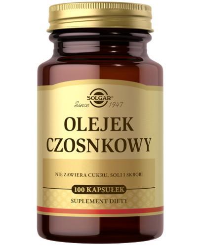 SOLGAR Olejek Czosnkowy 1 mg (świeży) 100 kapsułek