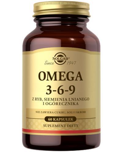 SOLGAR Omega 3-6-9 z ryb siemienia lnianego i ogórecznika 60 kapsułek