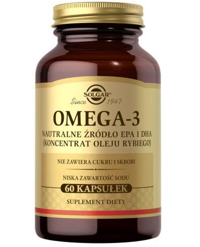 SOLGAR Omega-3 Naturalne źródło EPA i DHA koncentrat oleju rybiego 60 kapsułek