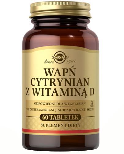 Solgar Wapń cytrynian z witaminą D 60 tabletek